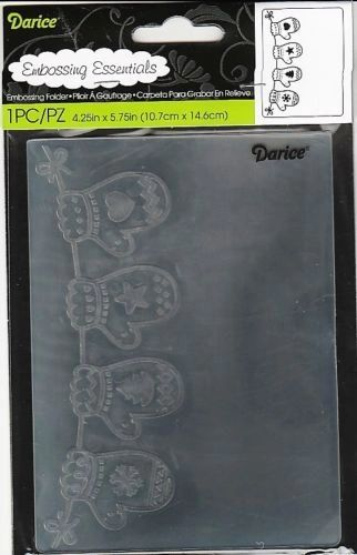 "Hanging Mittens Embossing Folder (4.24""x5.75"") by Darice"
