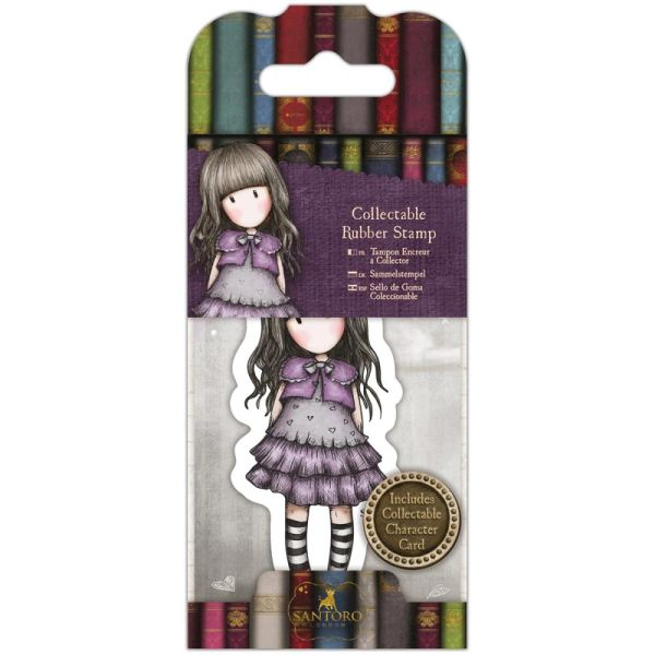 No. 32, Little Violet Gorjuss Mini Stamp by Santoro