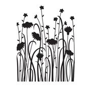 Darice Embossing Folder - Wild Flower Field - 4.25 x 5.75 inches