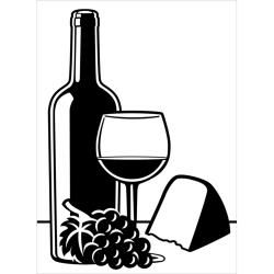"Wine and Cheese Embossing Folder (4.25""x5.75"") by Darice"
