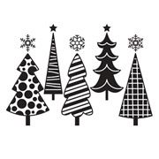 Fun Christmas Trees - 4.25 x 5.75 inches