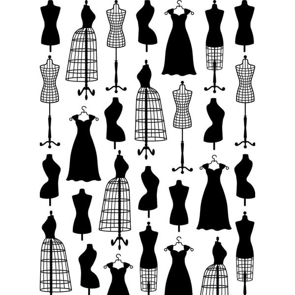 "Small Dress Forms Embossing Folder (4.25""x5.75"") by Darice"
