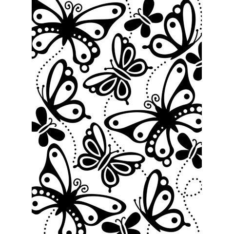 """Butterflies 2 Embossing Folder (4.25""""x5.75"""") by Darice"""