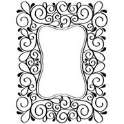 "Scrolls Frame (4.25""x5.75"") embossing folder by Darice"