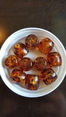 Amber Mutli-fleck 24mm Bead (10pcs)