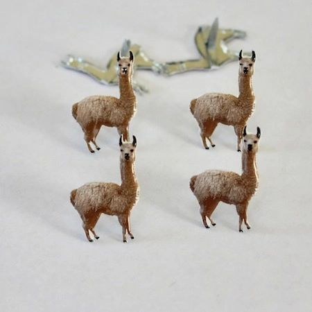 Llama brads (12pcs) by Eyelet Outlet