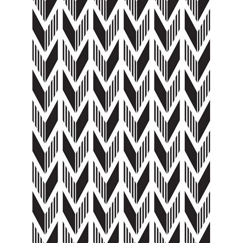 "Arrow Background Embossing Folder (4.25""x5.75"") by Darice"