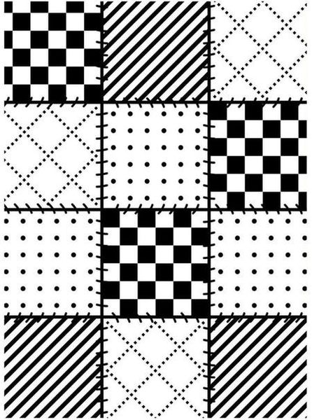 "Quilt Blocks Embossing Folder (4.25""x5.75"") by Darice"
