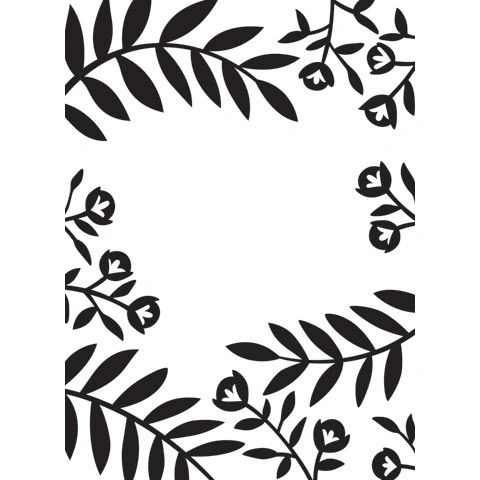 """Flowers and Leaves Embossing Folder (4.24""""x5.75"""") by Darice"""