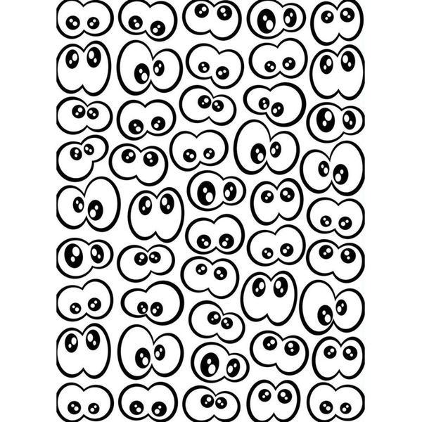 "Googly Eyes Embossing Folder (4.25""x5.75"") by Darice"