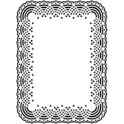"Doily Lace Border (4.25""x5.75"") embossing folder by Darice"