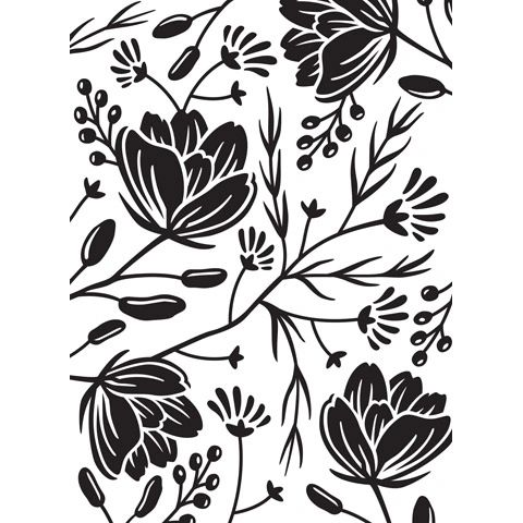 Flower Pod Background - Darice Embossing Folder - 4.25 x 5.75 inches