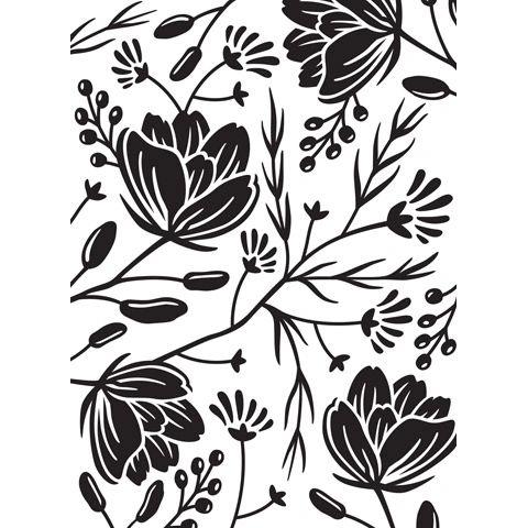 Flower Pod Background - Darice Embossing Folder - 4.25 x 5.75 inches