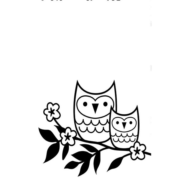 "Owls on a Twig Doily (4.25""x5.75"") embossing folder by Darice"