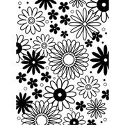 "Flower Frenzy Embossing Folder (4.25""x5.75"") by Darice"