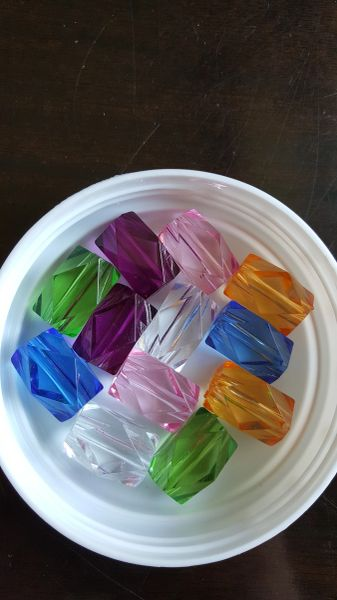 Rectangle Faceted Bead 24mm (12pcs Clear)