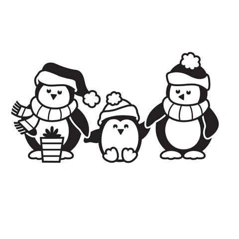 Penguin Christmas - Darice Christmas Embossing Folder - 4.25 x 5.75 inches