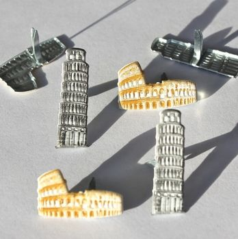 Colosseum & Leaning Tower of Pisa Brads by Eyelet Outlet