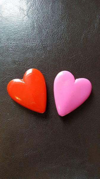Large Heart Beads 40mm (4pcs, 1 colour)