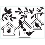 Darice Embossing Folder - Birdhouses in Tree - 4.25 x 5.75 inches