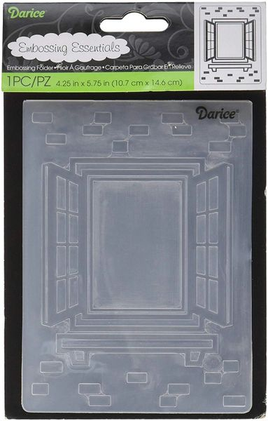 "Window with Shutters Embossing Folder (4.24""x5.75"") by Darice"