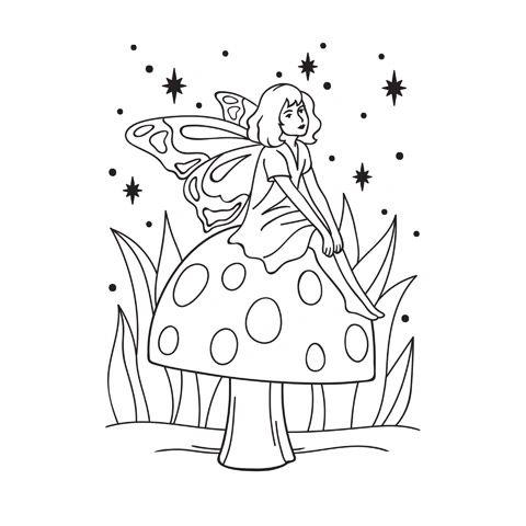 Darice Embossing Folder - Fairy on Mushroom - 4.25 x 5.75 inches