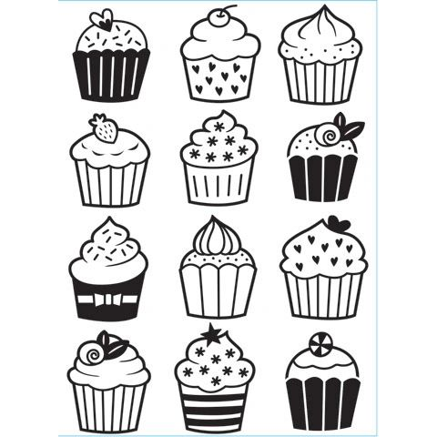 "Cupcake Background Embossing Folder (4.24""x5.75"") by Darice"