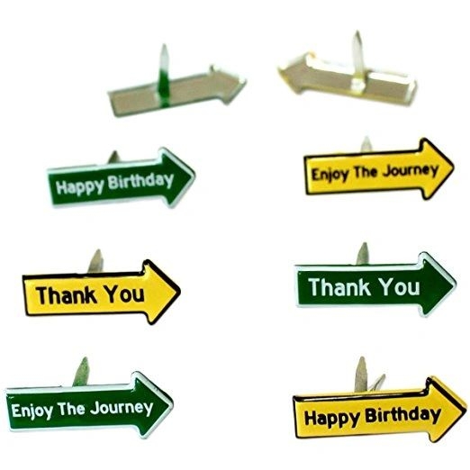 Arrow Birthday Brads by Eyelet Outlet