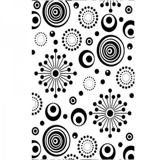 "Retro Circle Embossing Folder (4.25""x5.75"") by Darice"