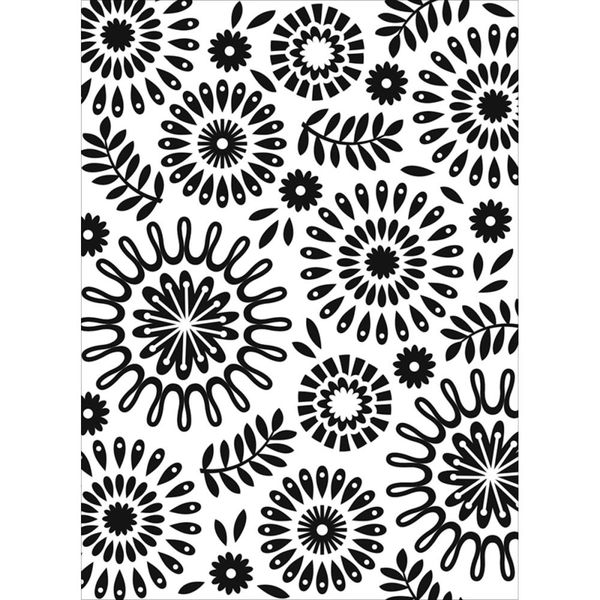 "Floral Circles (4.25""x5.75"") embossing folder by Darice"