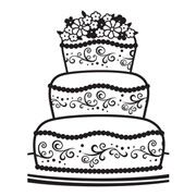 "Fancy Wedding Cake Embossing Folder (4.25""x5.75"") by Darice"