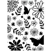 "Floral with Butterfly Embossing Folder (4.25""x5.75"") by Darice"