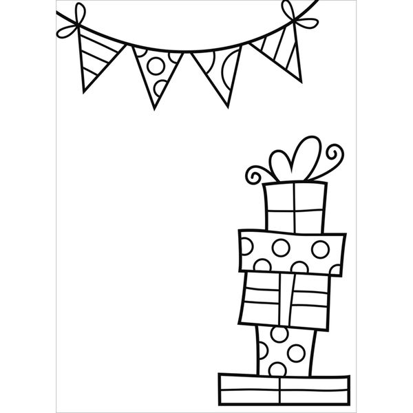 "Presents and Banner (4.25""x5.75"") embossing folder by Darice"