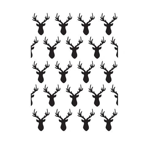 "Deer Head Background Embossing Folder (4.24""x5.75"") by Darice"