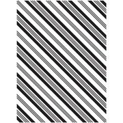Diagonal Stripes - Darice Embossing Folder - 4.25 x 5.75 inches