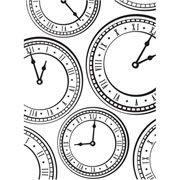 Clock Embossing Folder 4.25 x 5.75 by Darice