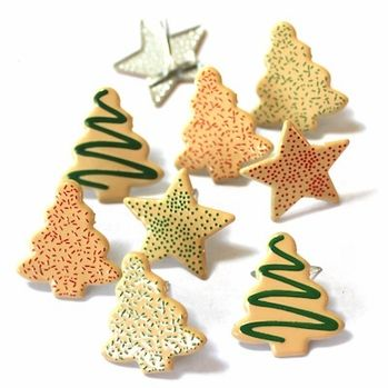 Cookie Brads (Christmas) by Eyelet Outlet