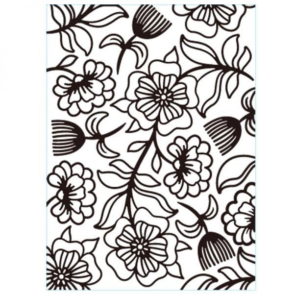 "Floral Whimsical (4.25""x5.75"") embossing folder by Darice"