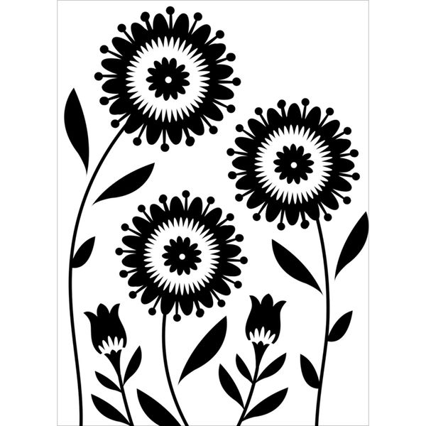 "Floral Trio Flowers Embossing Folder (4.25""x5.75"") by Darice"