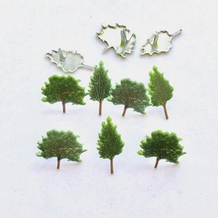 Summer Tree brads (12pcs) by Eyelet Outlet