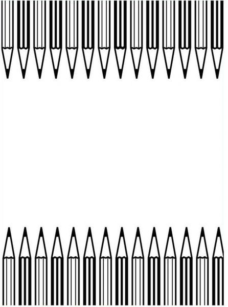 "Pencil Border (4.25""x5.75"") embossing folder by Darice"