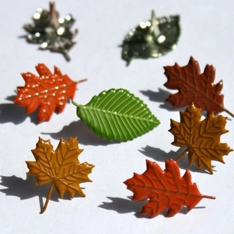 Fall Leaves Mix brads (12pcs) by Eyelet Outlet