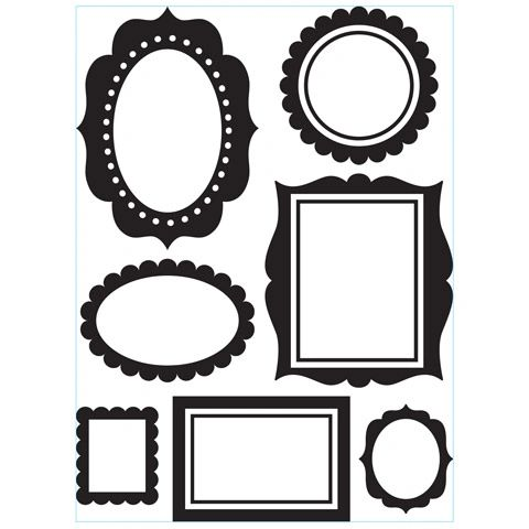"Photo Picture Wall Frames Embossing Folder (4.25""x5.75"") by Darice"
