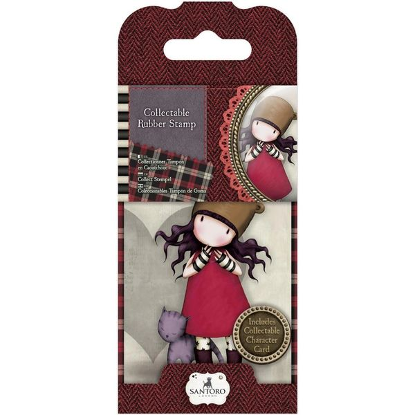 No. 10, Purrrrrfect Love Gorjuss Mini Stamp by Santoro Purfect Love