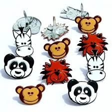 Animal head brads by Eyelet Outlet