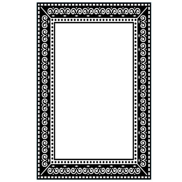 "Photo Frame (4.25""x5.75"") embossing folder by Darice"
