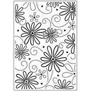 "Large Petal Floral (4.25""x5.75"") embossing folder by Darice"