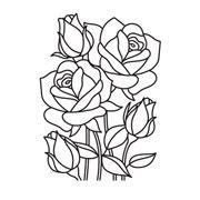 Rose Mosaic - Darice Embossing Folder - 4.25 x 5.75 inches