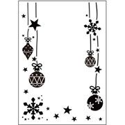 Ornaments Hung - Darice Embossing Folder - 4.25 x 5.75 inches