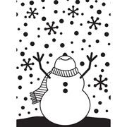 """Snowman Arms Up Embossing Folder (4.25""""x5.75"""") by Darice"""